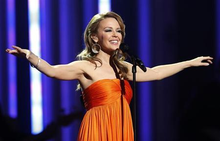 Singer Minogue performs at the Nobel Peace Prize Concert in Oslo